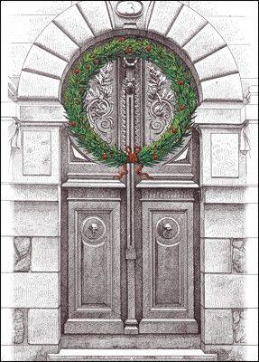 Customize Architect Wreath Christmas Cards Online   Ziti Cards