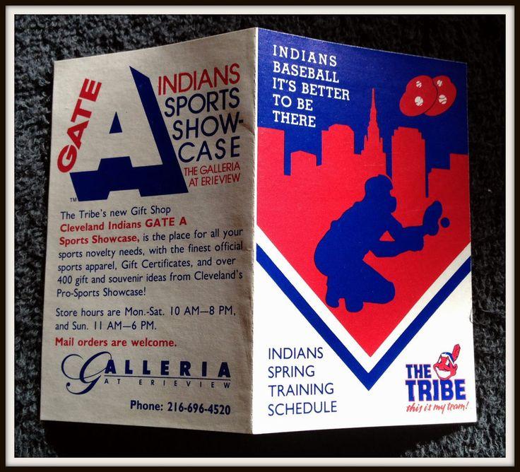 1988 CLEVELAND INDIANS GATE A GALLERIA SPRING BASEBALL POCKET SCHEDULE FREE SHIP #Pocket #Schedule