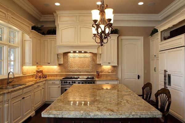 kitchen designs, the profuse white kitchen with great lighting in