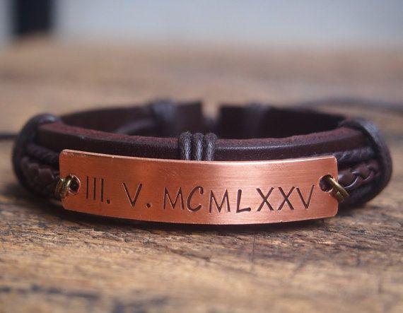 Personalized Men's bracelet boyfriend Bracelet by DesignForMen