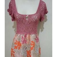 Dress sexi bahan batik katun, hand made jahitan butik