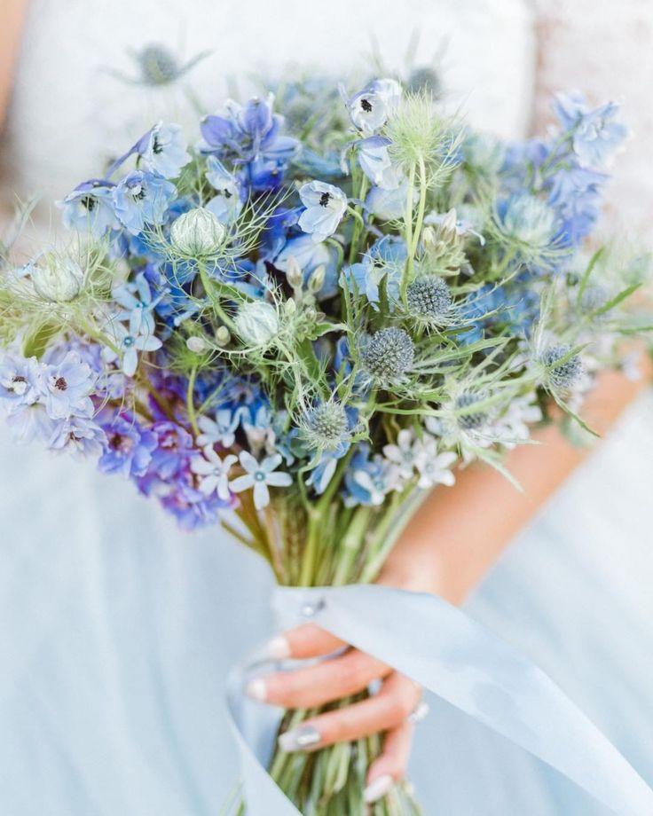 Texas Bluebonnet Bridal Bouquet #fridayflorals #weddingbouquet #engaged #bridetobe #weddingi
