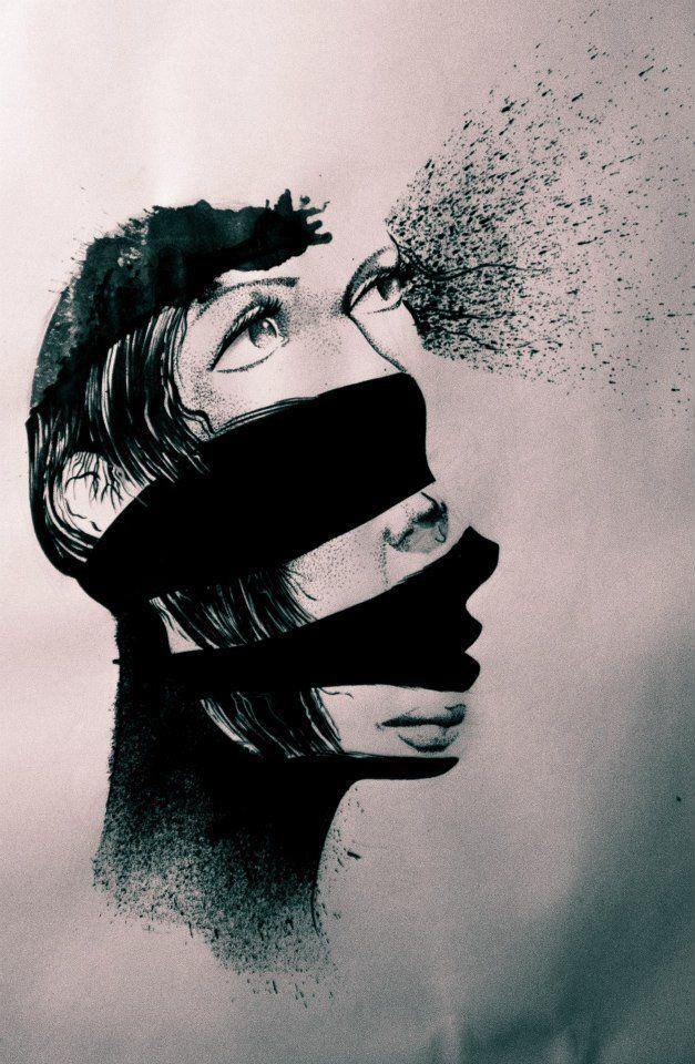 #sumi #ink #dark #art