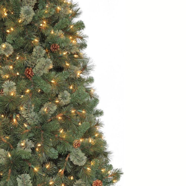 martha stewart living 9 ft pine set artificial tree with pinecones