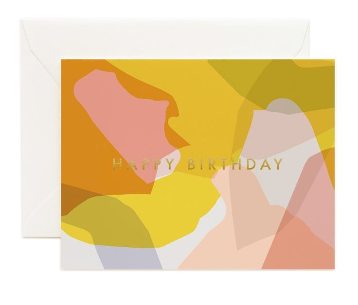 Modern Birthday card designed by Garance Dore in collaboration with Rifle Paper Co.
