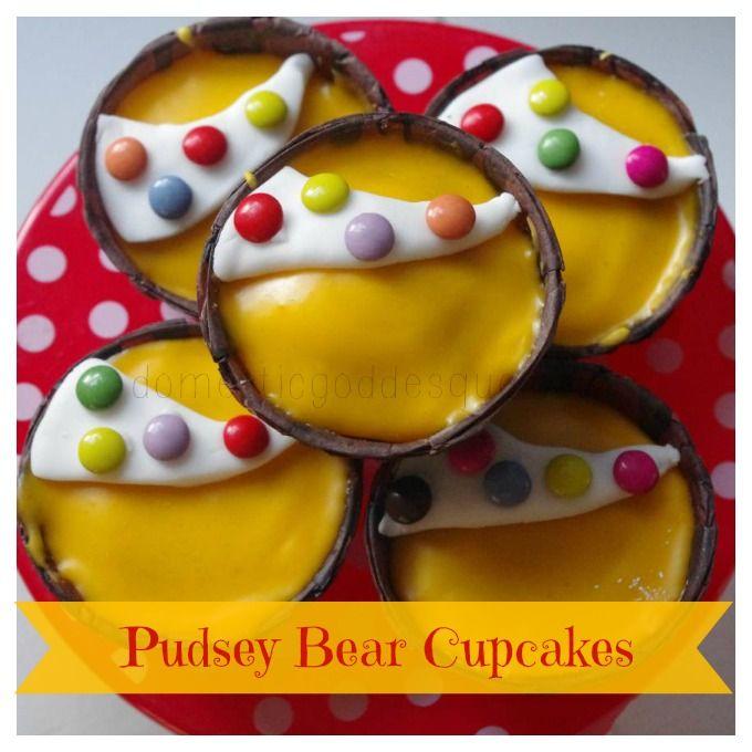 pudsey bear cupcake