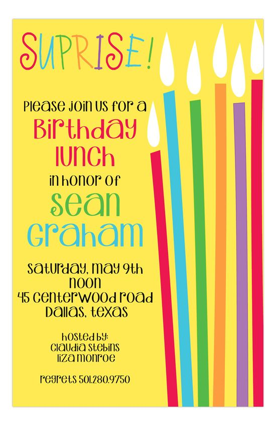 291 best Party Invitations images – Candle Party Invitations
