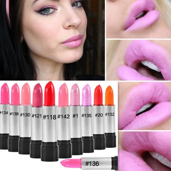 Maquiagem Famous Brand Korea Makeup Full Size Baby Pink Lipstick For Women Lips Make Up Health Waterproof Lipstick Batom