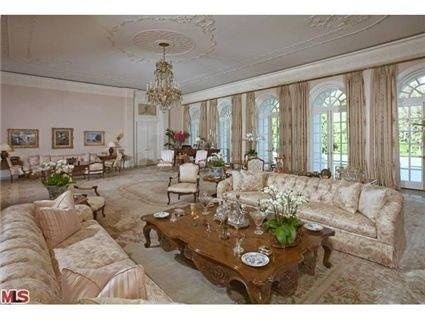 from inside the former mansion of Aaron & Candy Spelling