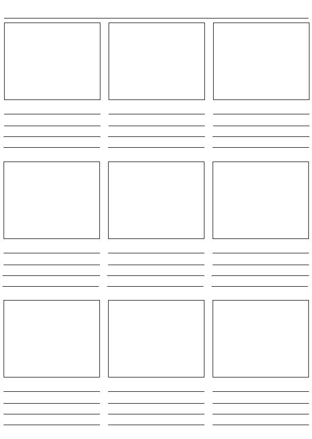 Photography Storyboard Template  NodeResumeTemplate