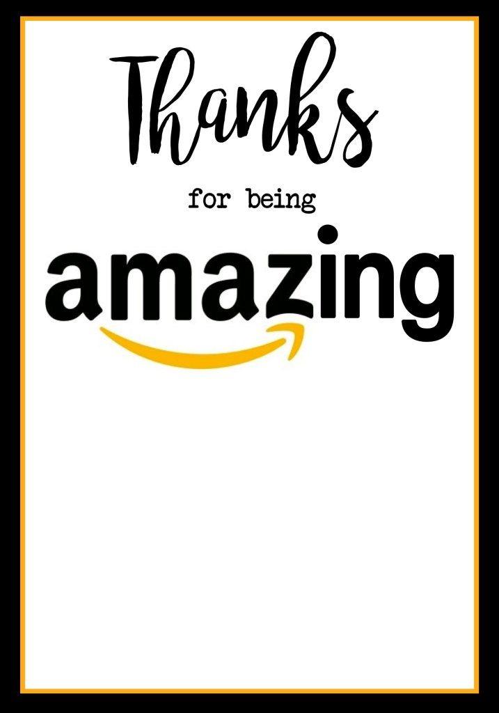 Teacher Appreciation Amazon Card   Teacher appreciation ...