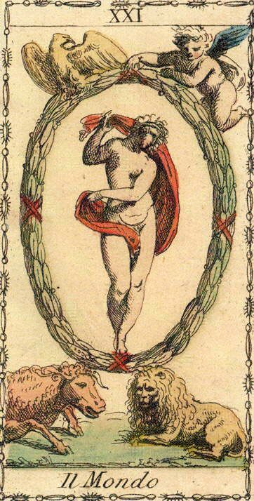 The World - Ancient Tarot of Lombardy