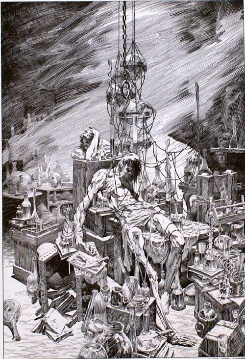 Bernie Wrightson's edition of Frankenstein was first published in 1983 under the Marvel imprint, and then again in 1994 under an actual novel-book imprint,