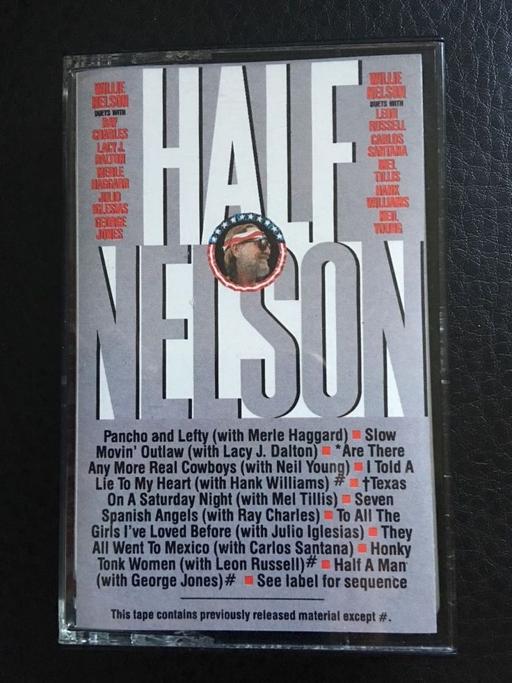 Willie Nelson Half Nelson Folk Country World American Poet Cassette Tape 1985 #ProgressiveCountry