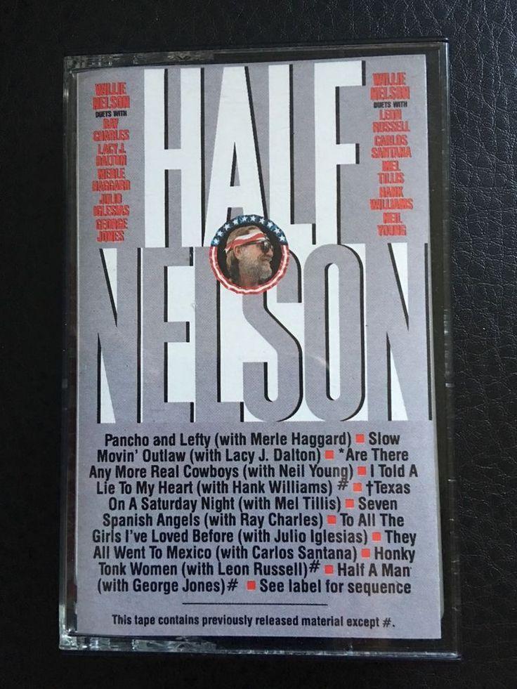 Willie Nelson Half Nelson Cassette Tape 1985 Ray Charles Santana  #ProgressiveCountry