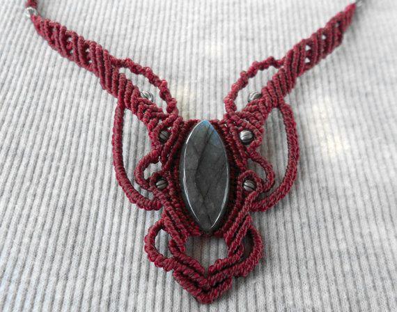 #Collar macrame #Handmade macrame #necklace #Macrame por GipsyCrafts