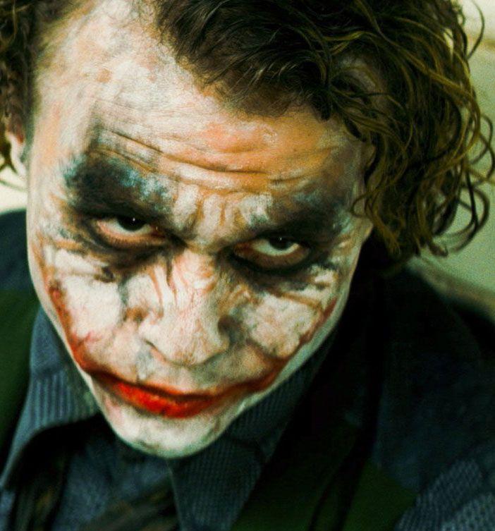 """Heath Ledger en """"El Caballero Oscuro"""" (The Dark Knight), 2008"""