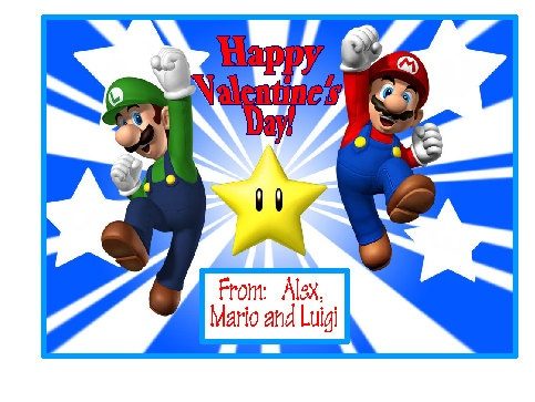 1000 images about Valentines cards – Mario Bros Valentine Cards