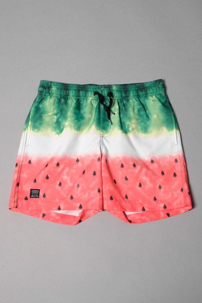 Kids Running Side Split Printed Swimming Trunks Beach Shorts