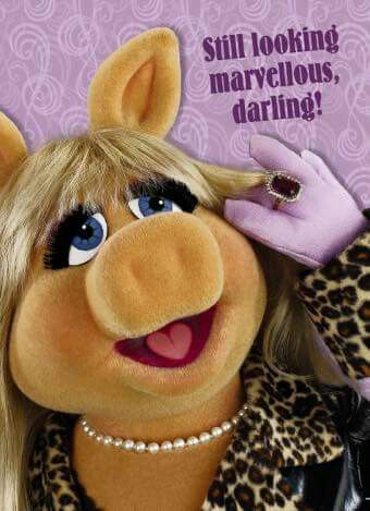 Eith compliments Ms Piggy