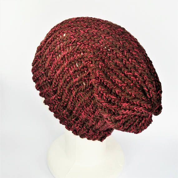Check out this item in my Etsy shop https://www.etsy.com/uk/listing/527352712/pink-and-brown-hat-womens-winter-beanie