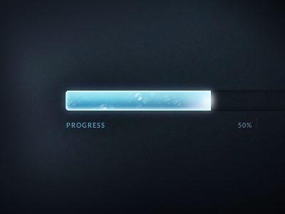 Dribbble - Animated CSS Progress Bar by Sascha Michael Trinkaus