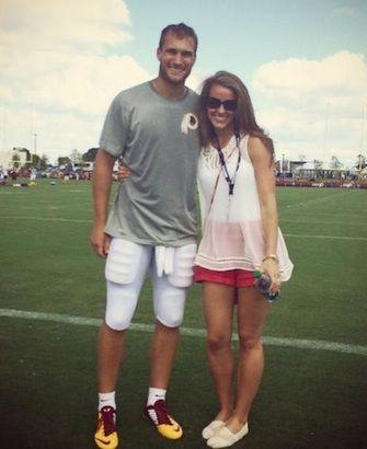 Kirk Cousins Wife Julie Hampton Cousins Cheers on Washington Redskins QB on Twitter