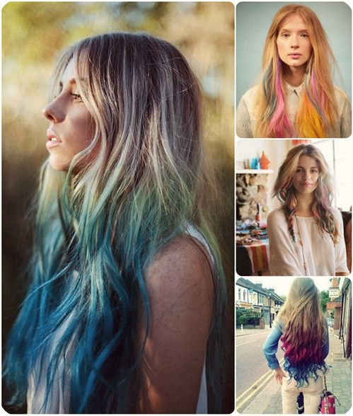 Easy And Best 10 Dip Dye Ombre Color Hair Ideas Without