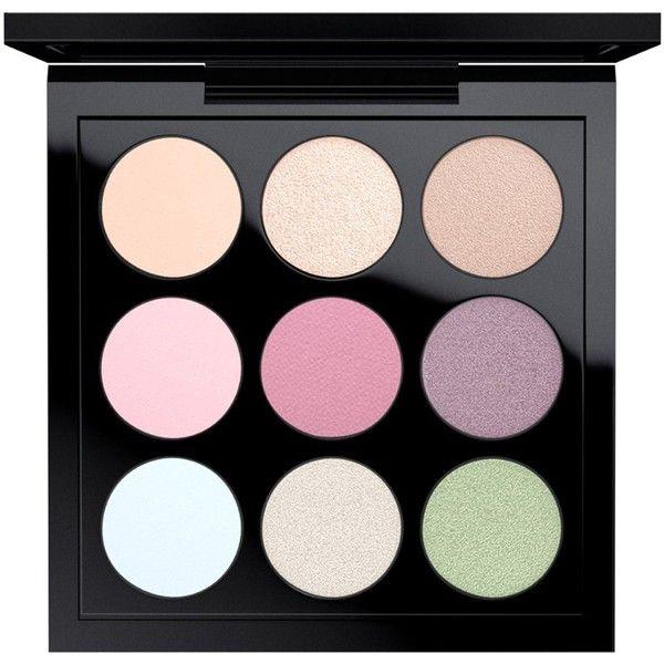 MAC Eye Shadow x 9, Pastel found on Polyvore featuring beauty products, makeup, eye makeup, eyeshadow, pastel times nine, mac cosmetics eyeshadow, palette eyeshadow and mac cosmetics