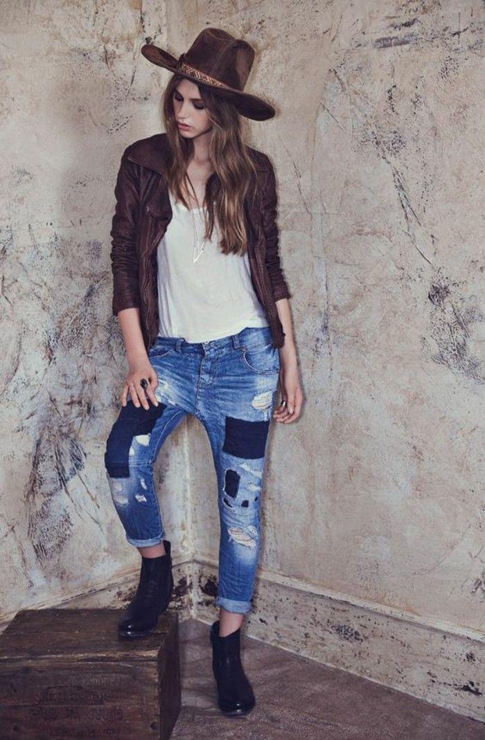 jeanshosen damen patchwork jeans damen