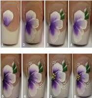 Risultati immagini per one stroke nail art step by step