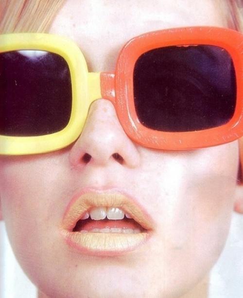 Cool retro color block shades.