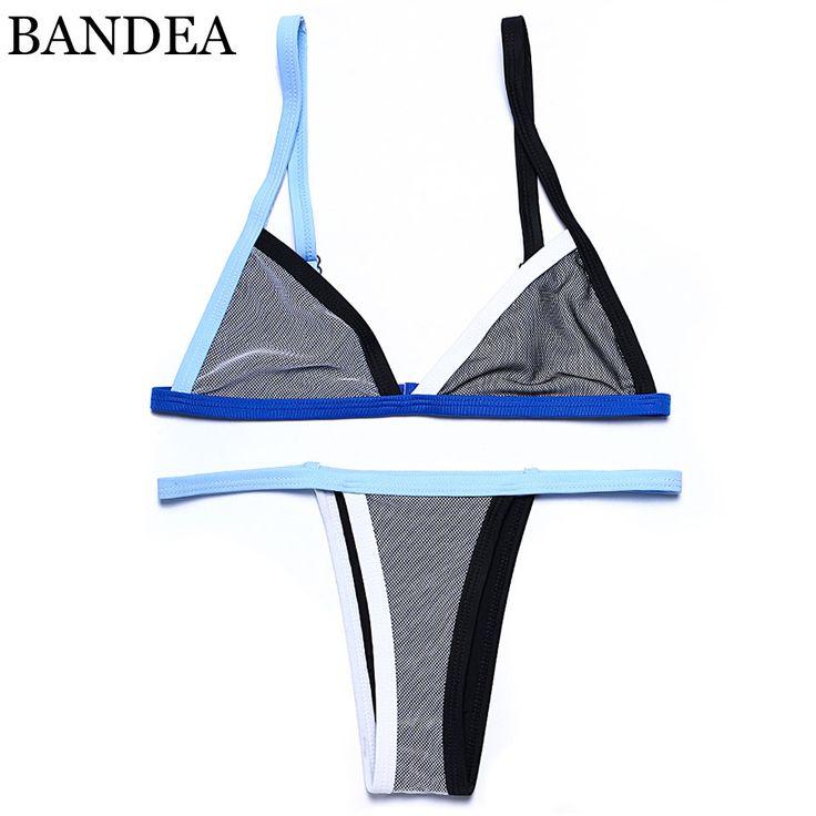 $9.34 (Buy here: https://alitems.com/g/1e8d114494ebda23ff8b16525dc3e8/?i=5&ulp=https%3A%2F%2Fwww.aliexpress.com%2Fitem%2F2016-Mesh-Patchwork-Scrunch-Butt-Swimwear-Sexy-Micro-Bikini-Brazilian-Women-Swimsuit-Thong-swimwear-lingerie-G%2F32603827653.html ) BANDEA Mesh Patchwork Scrunch Butt Swimwear Sexy Micro Bikini Brazilian  Women Swimsuit Thong swimwear lingerie G-string Set for just $9.34