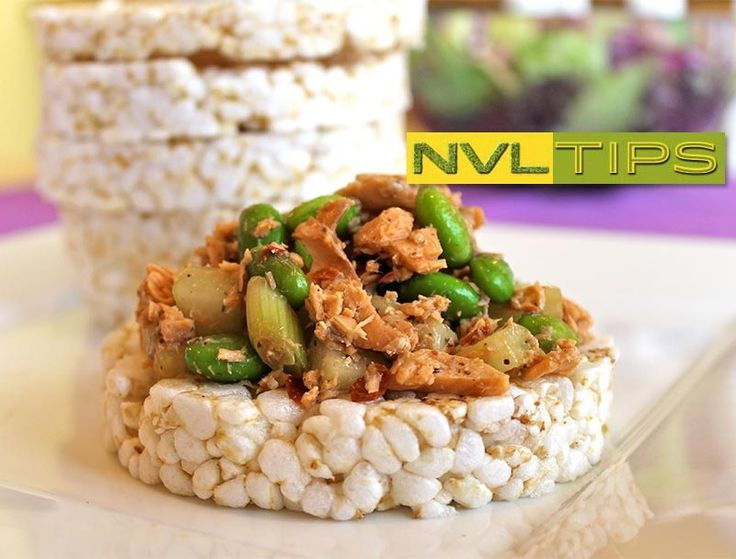 Rice cakes make the perfect quick and healthy base for snacks and dinner. #cooking #creamcheese #geneticallymodifiedorganism