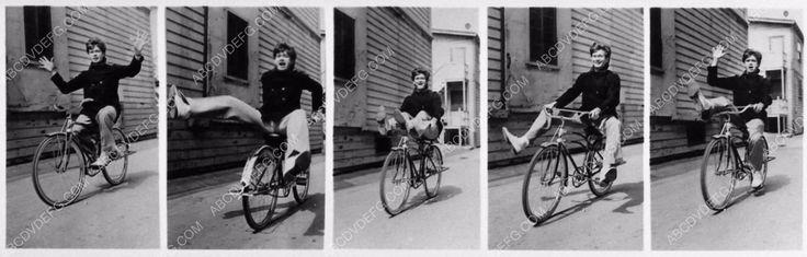 photo Buddy Ebsen bicycle riding compilation backlot shot 1197-33