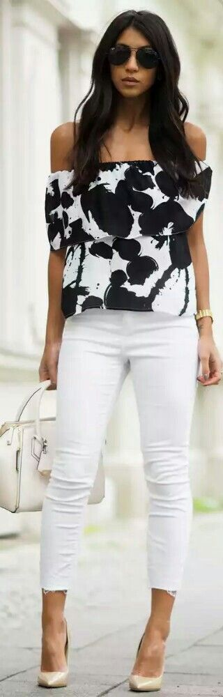 Rebecca Minkoff Off the Shoulder Printed Top / Fashion by Not Your Standard