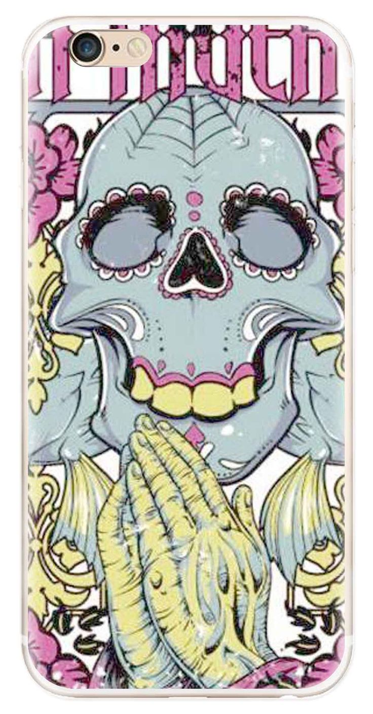 Whatskin DIY Style Skull Heads Series 07 Clear Back Cover for iphone 6