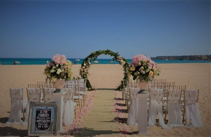 portugal beach wedding, lagos beach ceremony. designs, materials and coordination by algarve weddings by Rebecca