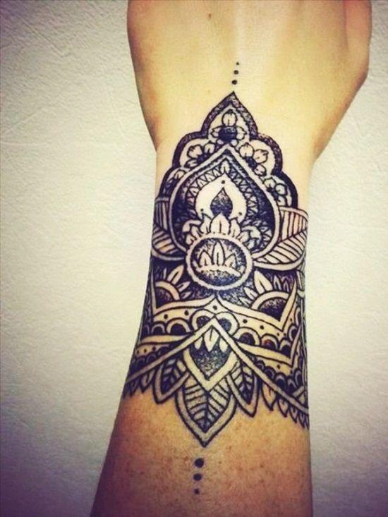 68565b4ff1930 51 Attractive Mandala Tattoo Designs   Amazing Tattoo Ideas   Tattoos   Mandala  wrist tattoo, Cool wrist tattoos 및 Cuff tattoo