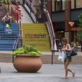 16th Street Mall  Take a stroll through Denver's 16th Street Mall, an outdoor shopping and dining center in the Mile High City. Dozens of restaurants and boutiques join chain stores such as Barnes & Noble and the Gap for a one-stop attraction. Lucky Strike bowling alley, United Artists movie theater and Coyote Ugly bar also provide nighttime entertainment.