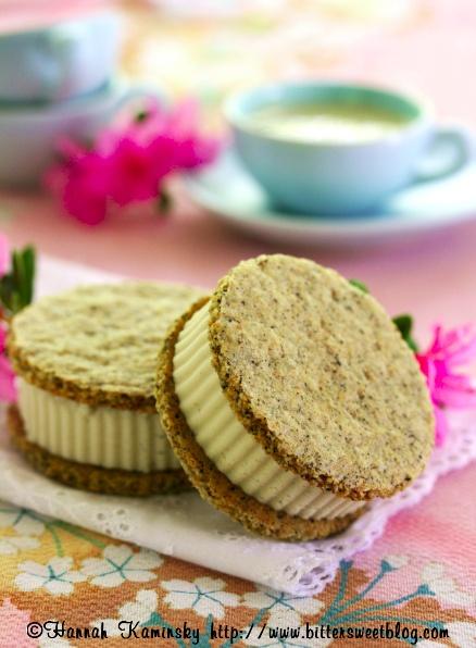 "Vanilla Bean ""Honey"" Ice Cream w Black Tea Graham Crackers"