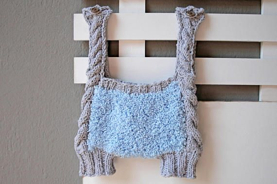 Crochet boy romper vintage outfit for baby boys bubble