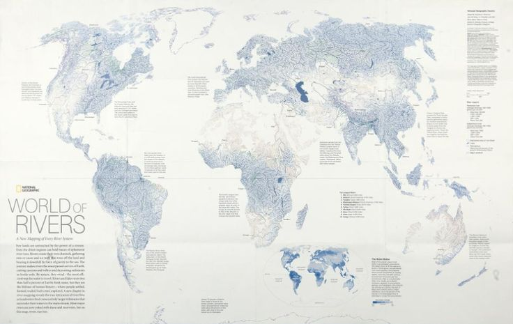 World of Rivers  - Every river system in the world was mapped and scaled by annual discharge.