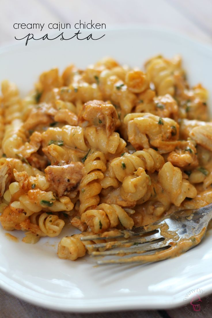 Creamy Cajun Chicken Pasta by Thrifty DIY Diva