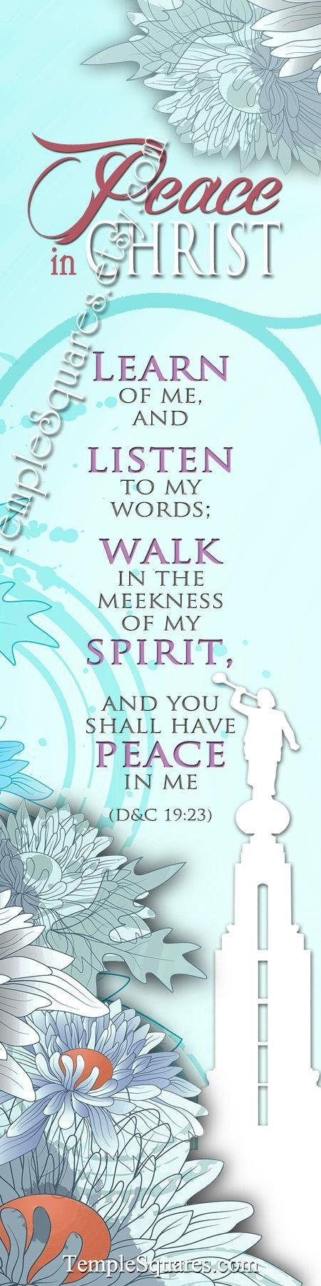2018 Mutual Theme LDS YW Peace in Christ Peace in me D&C 19:23 Printable Posters Handouts Bookmarks Instant Download Digital Collage chrysanthemum Redlands California Temple, watch for other temples coming soon or send me a note to request a particular temple in this silhouette design.