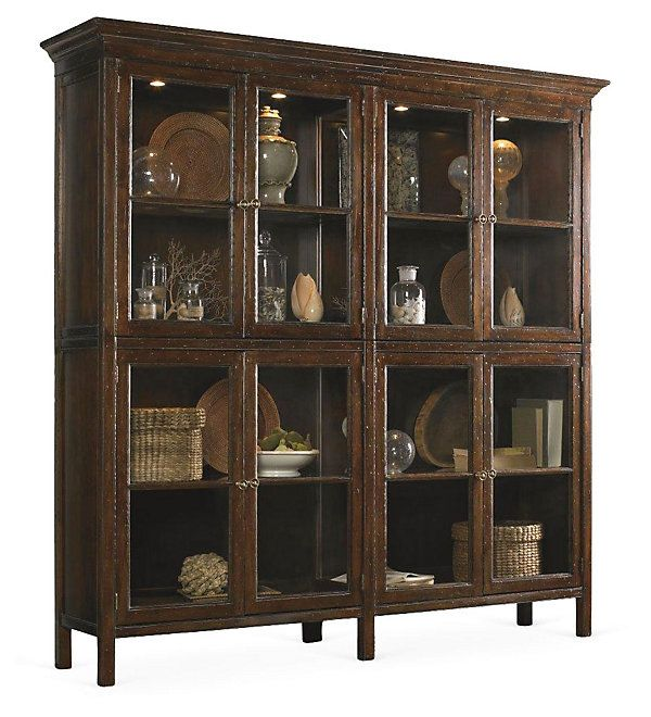 One Kings Lane - Crafted to Perfection - Vineyard Haven Display Cabinet