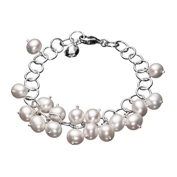 Kalevala Koru / Kalevala Jewelry / MAMAN AURORE BRACELET  Designer: Kirsti Doukas  Material: silver, sweet water pearl