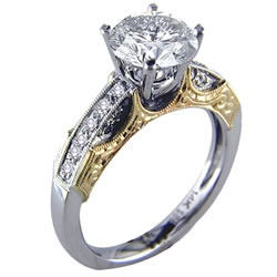 Two Tone Engagement Rings Kind Of Awesome I Wish Some Gold Be On Top