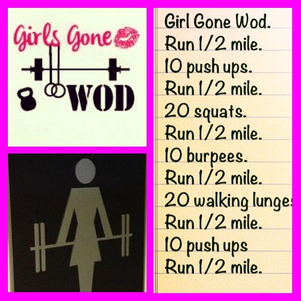 Girls gone wod #WOD #crossfit #TeamAwesome | Once a week work out. Started at 1/4 mile. going to move it up!