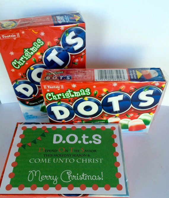 Superior Best Christmas Gifts For Young Women Part - 7: DOTS Tags For Young Womens Christmas Gifts Depend On The Savior Treats Come  Unto Christ Visiting Teaching Relief Society Embark Service